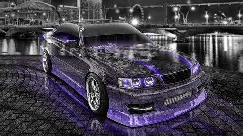 jdm car toyota chaser jzx100 jdm tuning crystal city night car