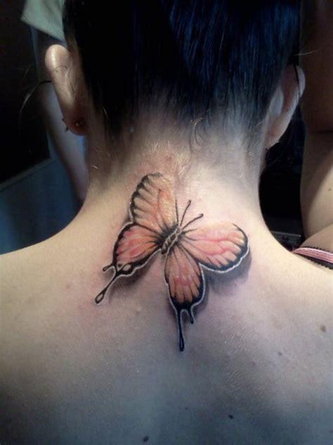 tattoo butterfly neck butterfly 3d tattoo on neck 150x150 tatuagens femininas