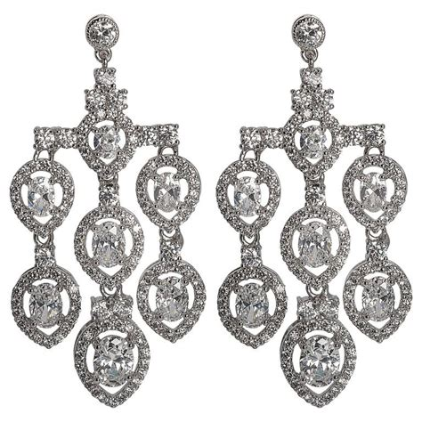 Chandelier Earrings Costume Jewelry Magnificent Costume Jewelry Shimmering Pendant Chandelier Earring For Sale At 1stdibs
