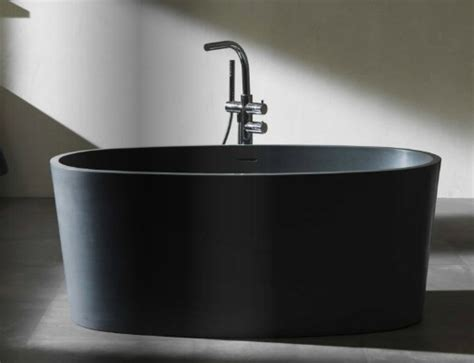 traditional bathtubs blu bathworks coco blu stone freestanding black matte