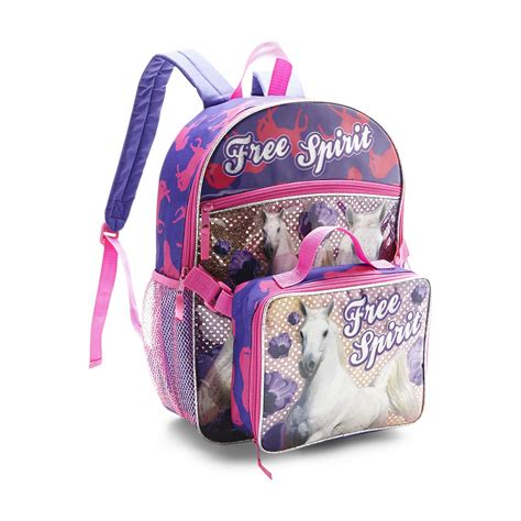 backpack detachable lunch bag horse