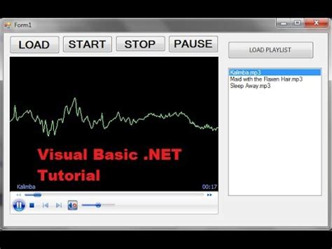 youtube tutorial basec visual basic net tutorial 30 mp3 media player vb net