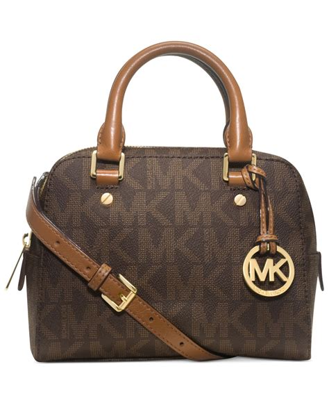 Small Satchel michael kors michael jet set small travel satchel in brown