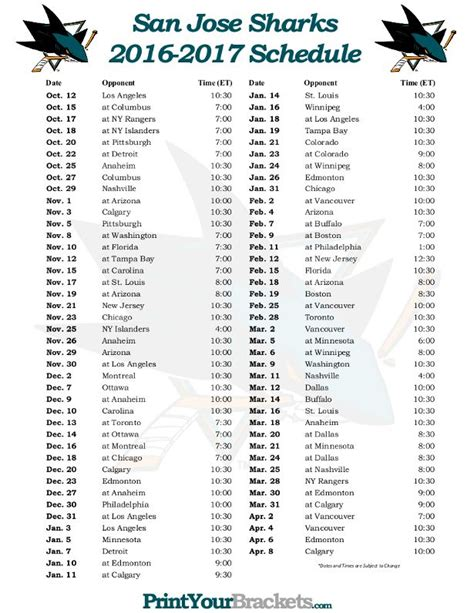 printable nhl schedule 1000 images about printable nhl schedules on pinterest
