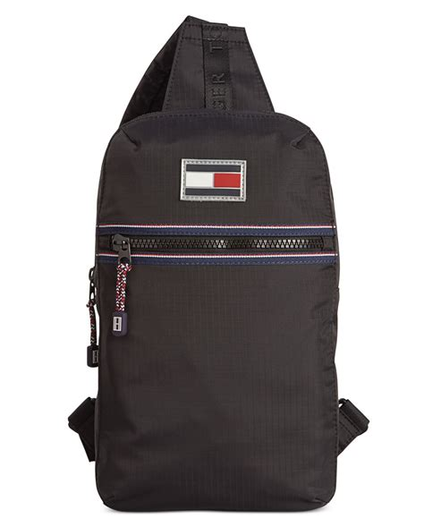 Sling Bag Octopus 3 lyst hilfiger ripstop sling bag in black for