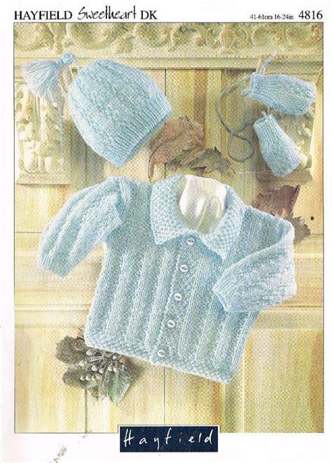hayfield knitting patterns for babies hayfield 4816 baby cardigan vintage knitting pattern pdf
