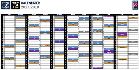 Calendrier Pro D2 Calendriers 2017 2018 De Top 14 Et Pro D2 Lnr