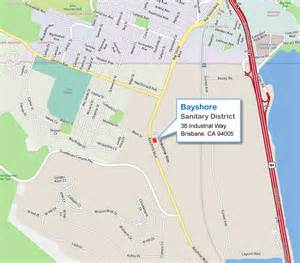 brisbane california map map to bayshore sanitary district 36 industrial way