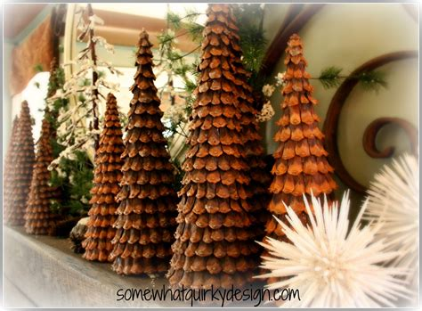 somewhat quirky pine cone christmas trees
