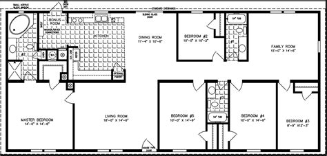 5 bedroom wide mobile home floor plans