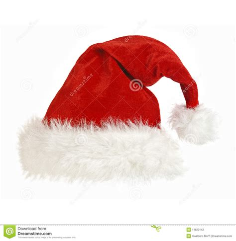 santa claus cap on white stock photography image 11820142
