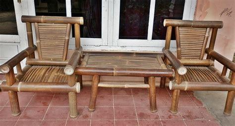 Kursi Meja Bambu tanaman bambu wiwidwahyu