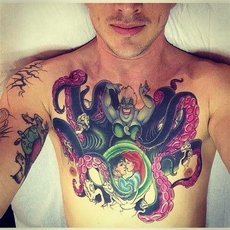 ursula tattoo chest littlemermaid ursula disney