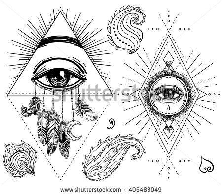 sacred geometry symbol all seeing eye stock vector sacred geometry symbol all seeing eye stock vector royalty free 405483049