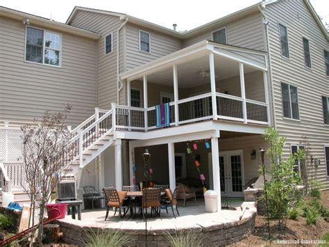 two story deck 2 story decks outdoor spaces pinterest