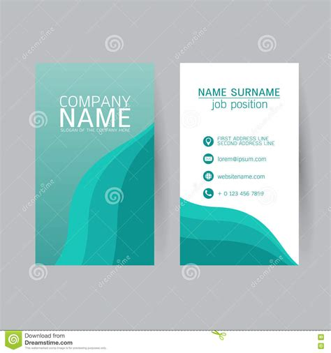 free flat card templates vector modern simple light business card template with