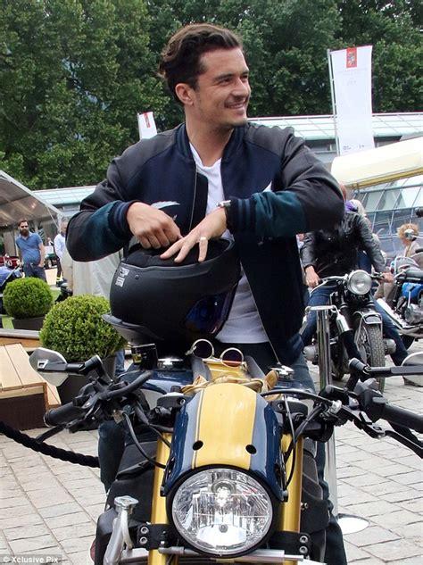 orlando bloom motorcycle orlando bloom rides his custom motorcycle at lake como