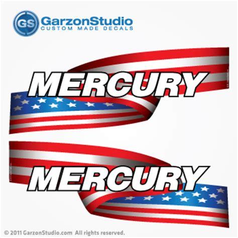 mercury outboard motor graphics mercury stars and stripes outboard decal set u s flag
