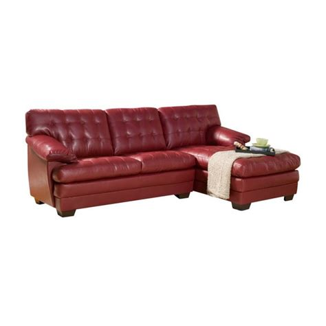 oversized leather sectional trent home brooks oversized tufted 2 piece leather