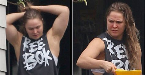 ronda rousey house pics ronda rousey emerges after thugs vandalise her house