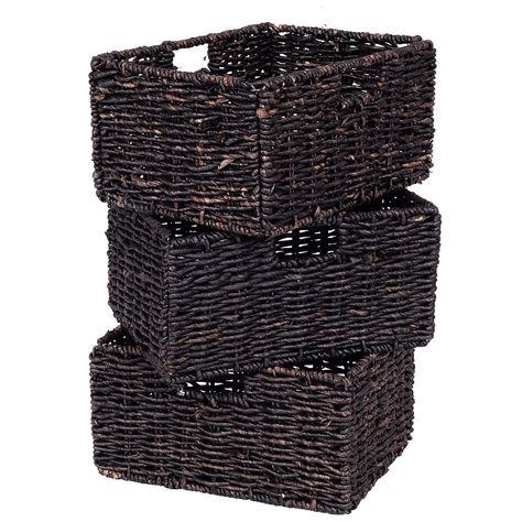 accent table with baskets wooden rectangular side storage table with 3 storage