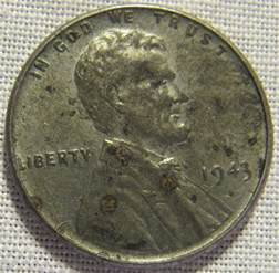 1943 lincoln wheat ears steel cent penny whotoldya lot