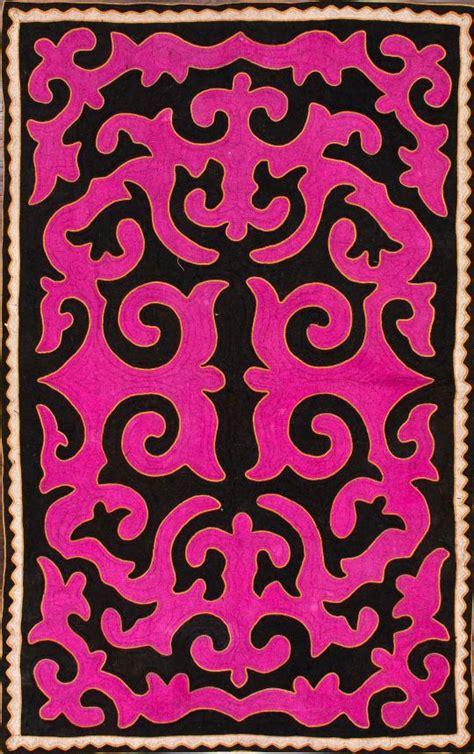shyrdak rug rugs usa shyrdak felt basar damask fuschia rug boho chic damasks felt