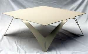 table basse blanche ivoire table basse carr 233 e design m 233 tal