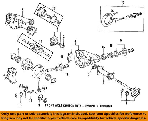 layout cv exle toyota oem front axle output shaft seal 9031135032 ebay