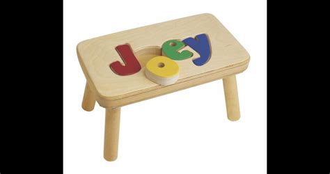 Child Stool With Name Blocks by Personalized Puzzle Stools Stools For