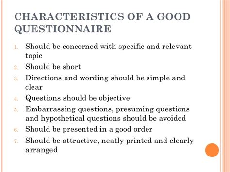 layout of a good questionnaire questionnaire