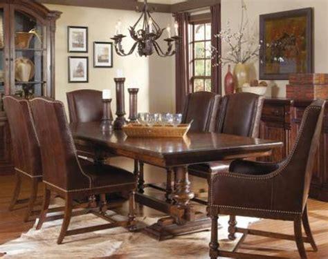 a r t furniture inc whiskey oak 7 trestle dining