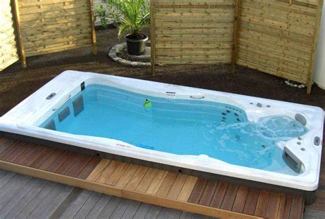Small Backyard Decks Patios Aquatic Exercise At Home With The H2x Swim Spa