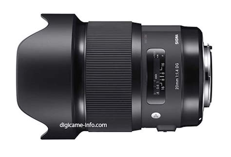Specs Sigma Sigma 20mm F 1 4 Dg Hsm Lens Specs And Image Leaked Daily News
