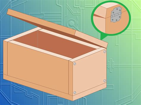 How To Make A Up Box Out Of Paper - how to make a wooden box with pictures wikihow