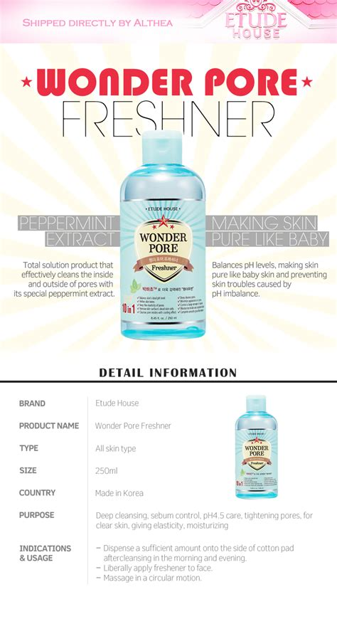 Etude House Pore Freshner 250ml buy etude house pore freshner 250ml at