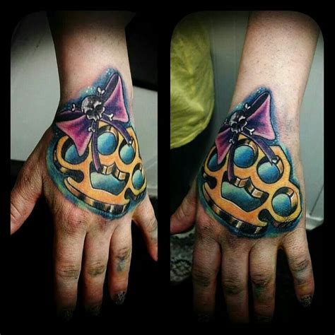 brass knuckle tattoo brass knuckle check this out