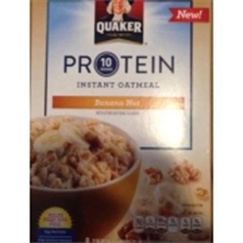 protein quaker oatmeal quaker protein instant oatmeal banana nut cereal calories