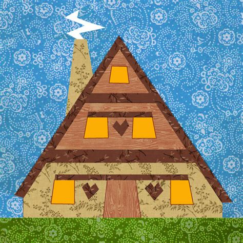 house pattern lovely house quilt block paper pieced quilt pattern pdf