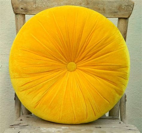 almohadas amarillas sweet yellow velvet round pillow 16 quot cushions and