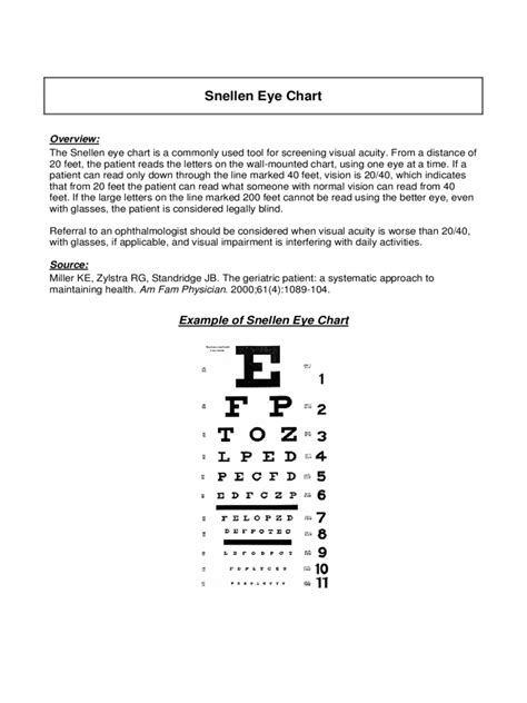 Printable Eye Chart With Instructions | eye chart 6 free templates in pdf word excel download
