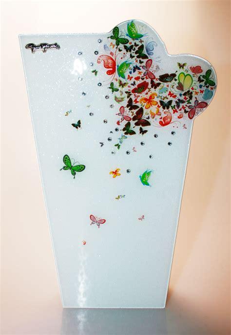 acquisto vasi on line vaso in vetro butterfly 30cm gai mattiolo di