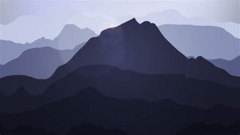 mountain silhouettes  premium templates