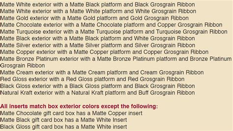 Platform Gift Card Boxes - platform gift card boxes gift certificates custom