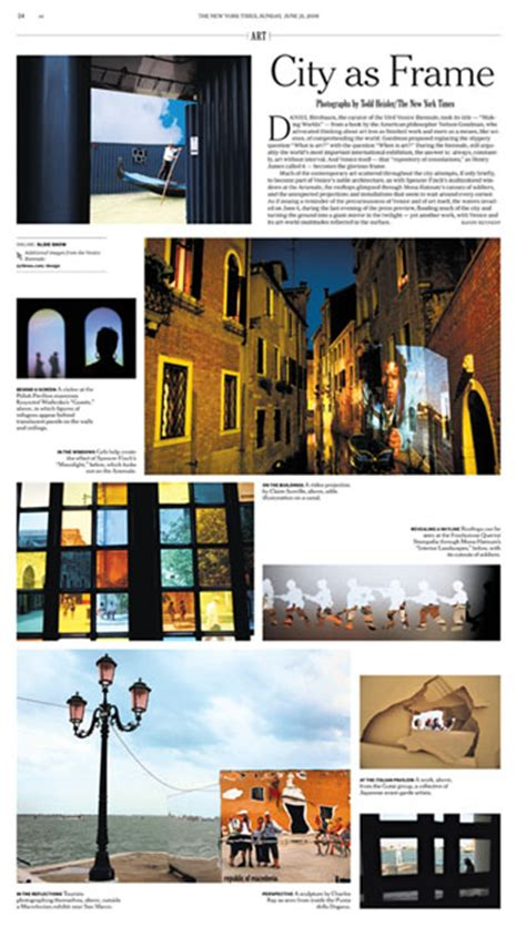 Photo Essay Layout Magazine by Essay Framing Venice The New York Times
