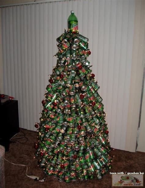 mountain dew cans make a great christmas tree didn t