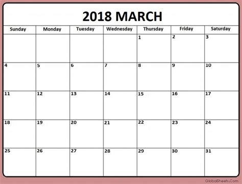 printable calendar 2018 fillable printable march 2018 calendar fillable