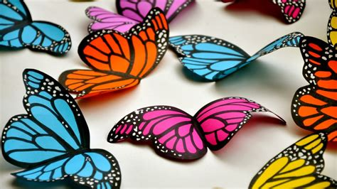 How To Make A Paper Design - create simple and beautiful paper butterflies diy crafts