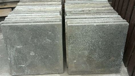 reclaimed concrete paving flags slabs shed base allotment