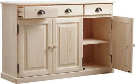 buffet 3 portes 3 tiroirs en bois brut